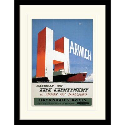 """Art Group Harwich """"2"""" Framed Vintage Advertisement"""