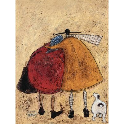 Art Group Hugs on the Way Home by Sam Toft Canvas Wall Art