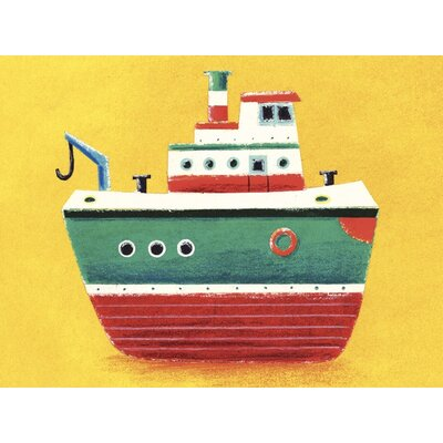 Art Group Tug Boat by Simon Hart Art Print on Canvas