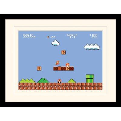 Art Group Super Mario Bros. 1-1 Framed Graphic Art