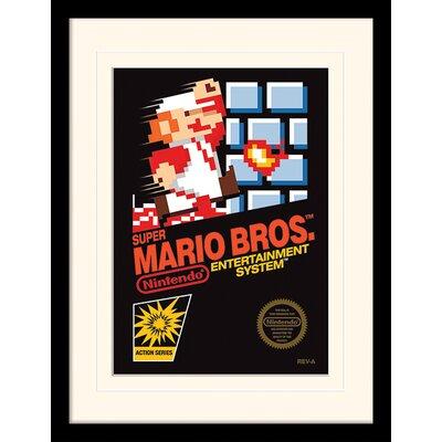 Art Group Super Mario Bros. NES Cover Framed Vintage Advertisement