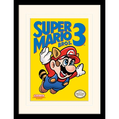 Art Group Super Mario Bros. 3 NES Cover Framed Vintage Advertisement
