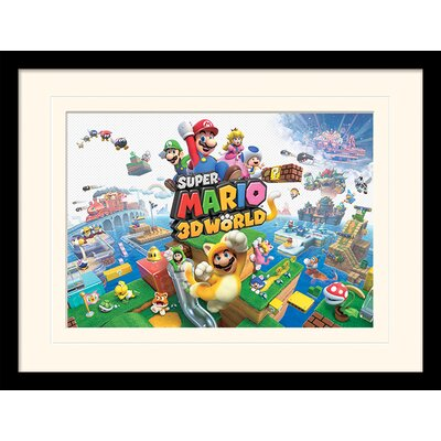 Art Group Super Mario 3D World Framed Vintage Advertisement