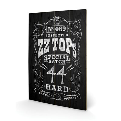 Art Group ZZ Top Special Batch Typography Plaque