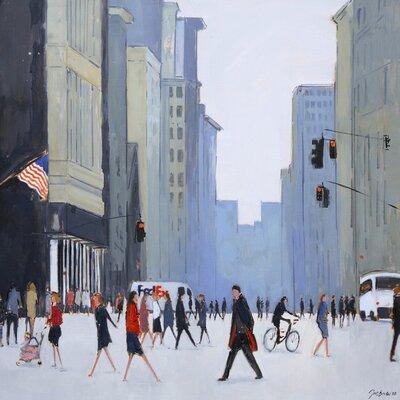 Art Group 5th Avenue - New York by Jon Barker Canvas Wall Art