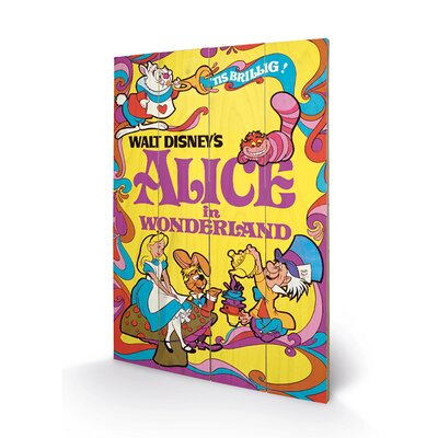 Art Group Alice in Wonderland 1974 Vintage Advertisement Plaque
