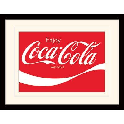 Art Group Coca-Cola Logo Framed Vintage Advertisement