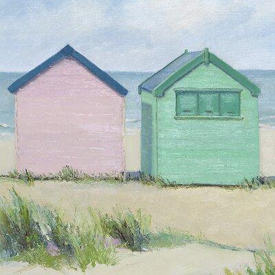 Art Group Beach Huts by Jane Hewlett Canvas Wall Art