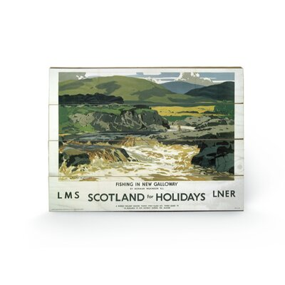 Art Group Scotland for Holiday 2 Vintage Advertisement Plaque