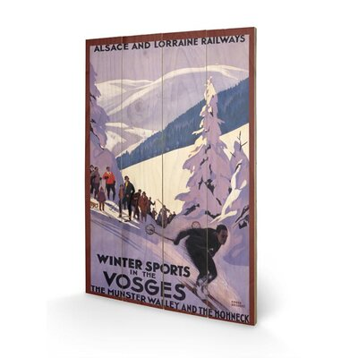 Art Group Winter Sports in the Vosges Vintage Advertisement Plaque