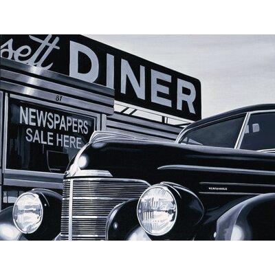 Art Group Massachusetts Diner by Alain Bertrand Canvas Wall Art