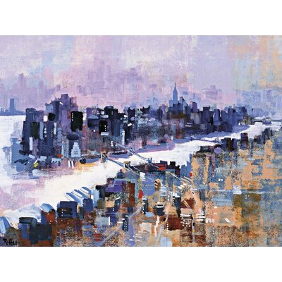 Art Group New York and Manhattan Island by Colin Ruffell Art Print on Canvas