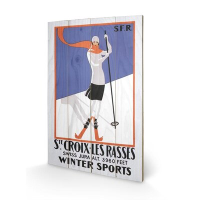 Art Group Ste. Croix-Les Rasses Vintage Advertisement Plaque