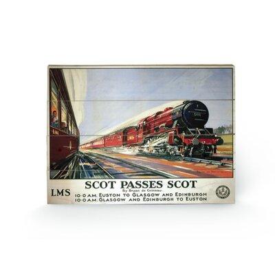 Art Group Scot Passes Scot Vintage Advertisement Plaque