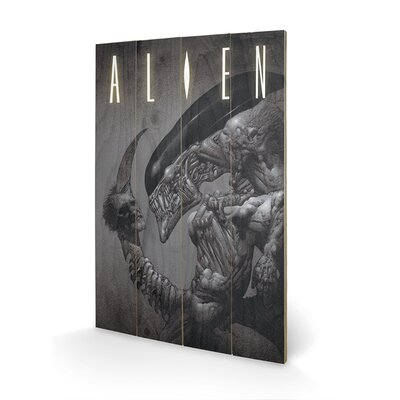 Art Group Head on Tail, Alien Vintage Advertisement Plaque