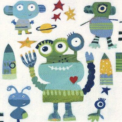 Art Group Aliens by Anne Davies Canvas Wall Art