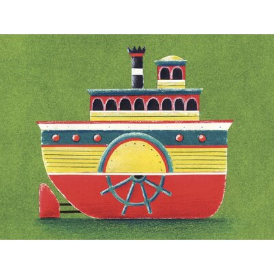 Art Group Mississippi Steam Boat by Simon Hart Canvas Wall Art
