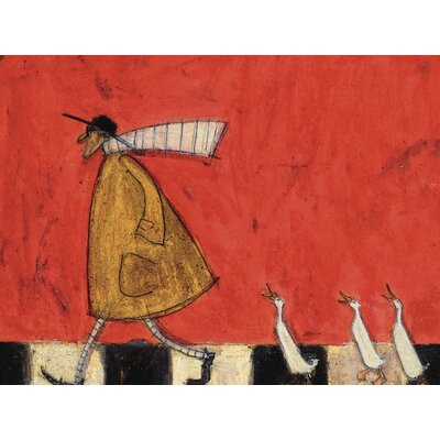 Art Group Crossing with Ducks by Sam Toft Canvas Wall Art