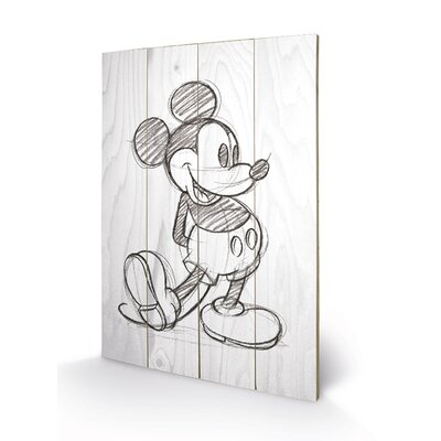 Art Group Mickey Mouse, Sketched - Single Art Print Plaque