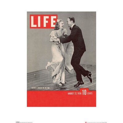 Art Group Time Life, Life Cover Astaire and Rogers Vintage Advertisement
