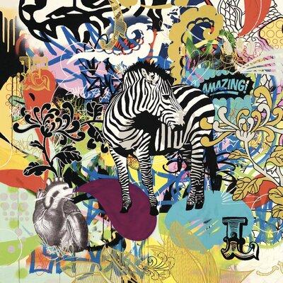 Art Group Kaleidoscobe Zebra by Ben Allen Canvas Wall Art