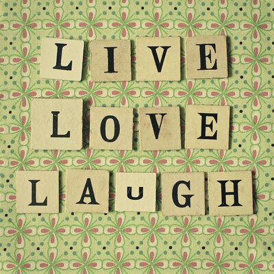 Art Group Live Love Laugh by Cassia Beck Typography Canvas Wall Art