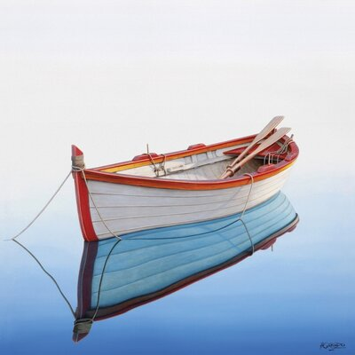 Art Group Boat in a Tranquil Bay by Horacio Cardozo Canvas Wall Art