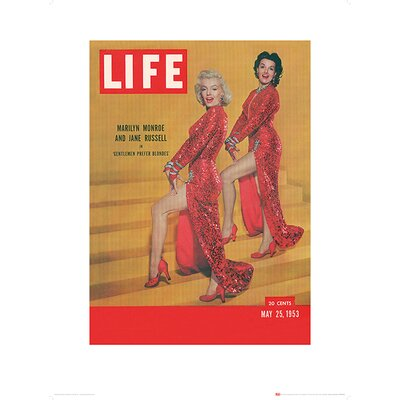 Art Group Time Life - Life Cover Monroe and Russell Vintage Advertisement