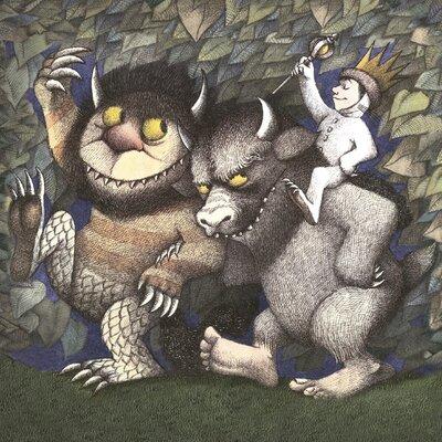 Art Group King Max, Carol and Bull by Maurice Sendak Vintage Advertisement Canvas Wall Art