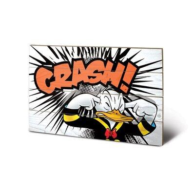 Art Group Donald Duck Crash Graphic Art Plaque