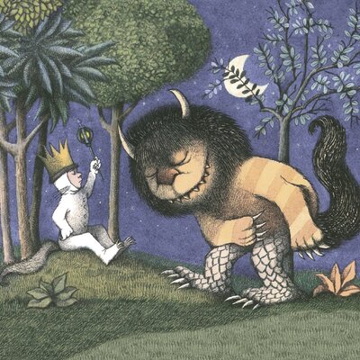 Art Group King of all Wild Things by Maurice Sendak Vintage Advertisement Canvas Wall Art