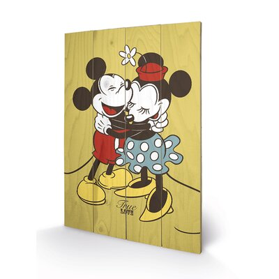 Art Group Mickey and Minnie Mouse, True Love Vintage Advertisement Plaque