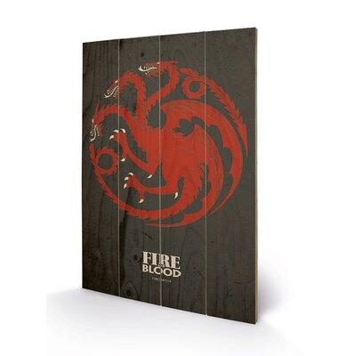 Art Group Game of Thrones, Targaryen Graphic Art Plaque