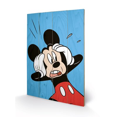 Art Group Mickey Mouse, Shocked Vintage Advertisement Plaque