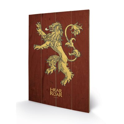 Art Group Game of Thrones, Lannister Graphic Art Plaque