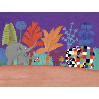 Art Group Elmer, Wilber and Teddy by David McKee Canvas Wall Art