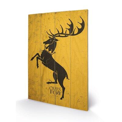 Art Group Game of Thrones, Baratheon Graphic Art Plaque
