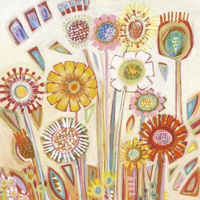 Art Group Sunny Flowers by Shyama Ruffell Art Print on Canvas