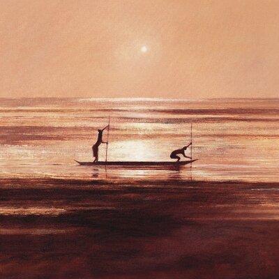 Art Group Sinking Sun Art by Jonathan Sanders Canvas Wall Art