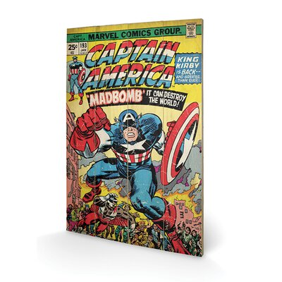 Art Group Captain America Madbomb Vintage Advertisement Plaque