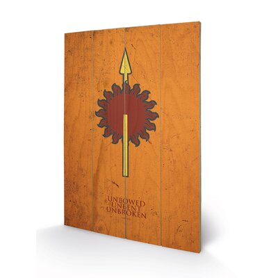 Art Group Game of Thrones, Martell Graphic Art Plaque