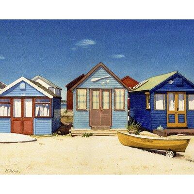 Art Group Three Beach Huts by Margaret Heath Canvas Wall Art