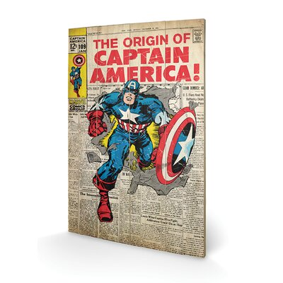 Art Group Captain America Origin Vintage Advertisement Plaque