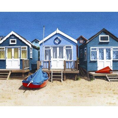 Art Group Beach Huts by Margaret Heath Canvas Wall Art