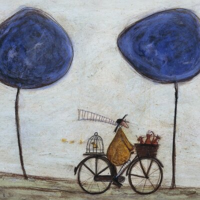 Art Group Freewheelin' with Joyce Greenfields and the Felix 3 by Sam Toft Canvas Wall Art