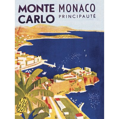 Art Group Monte Carlo, Monaco Vintage Advertisement Canvas Wall Art