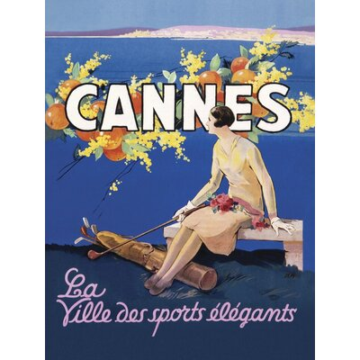Art Group Cannes Poster Vintage Advertisement on Canvas
