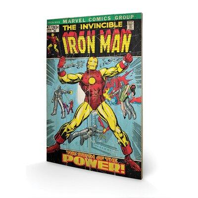 "Art Group Iron Man ""Birth Of Power"" Vintage Advertisement Plaque"