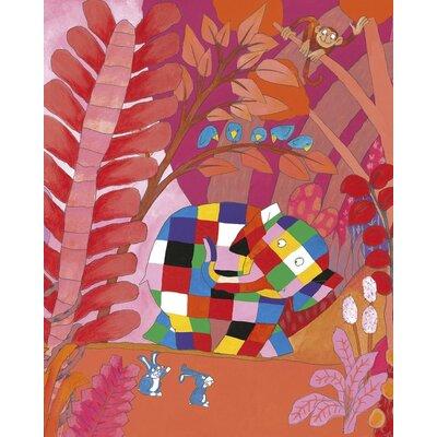 Art Group Elmer and Friends by David McKee Canvas Wall Art