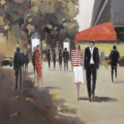 Art Group Cafe De La Paix - Paris by Jon Barker Canvas Wall Art